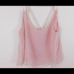 Tops - Shiny pink crop top